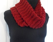 Red  Warm Cozy Infinity Scarf Neck Warmer Cowl for Women and Girls