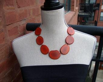 Orange Choker Style Necklace
