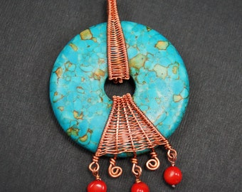 Hyacinth House - Woven Wire Wrapped Donut Pendant Tutorial