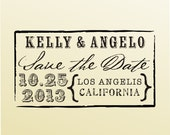 SAVE THE DATE Stamp Clear Block Wedding Engagement Stamp Wedding Favor Rubber Stamp  -style 6042