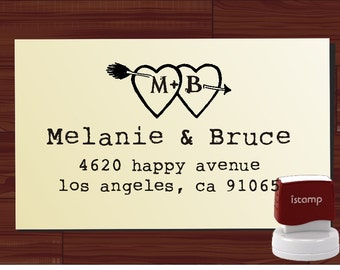 Custom  Return Address Stamp  - SELF INKING  - style 1235-  personalized wedding or christmas gift