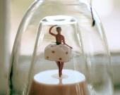 Wind Up Music Bottle / Ballerina / Bottle Within a Bottle / Holds Liquid
