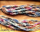 Colorful Earthtone Crochet Dangles