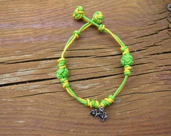 Korean Love Maedeup Bracelet - Chartreuse and Yellow