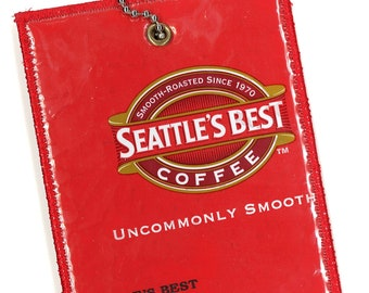 Luggage Tag from Recycled Seattle's Best Coffee Bag