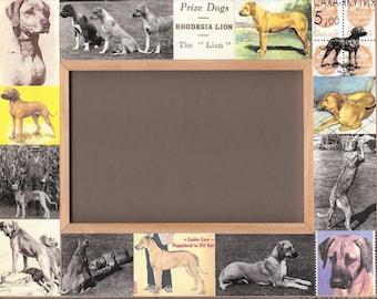 Dog Gift / RHODESIAN RIDGEBACK / Picture Photo Frame / Gift / Vintage Art