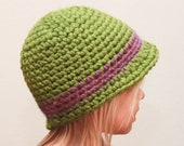 Crochet Hat Pattern - Super Easy Cloche Brim Hat (Baby - Adult)
