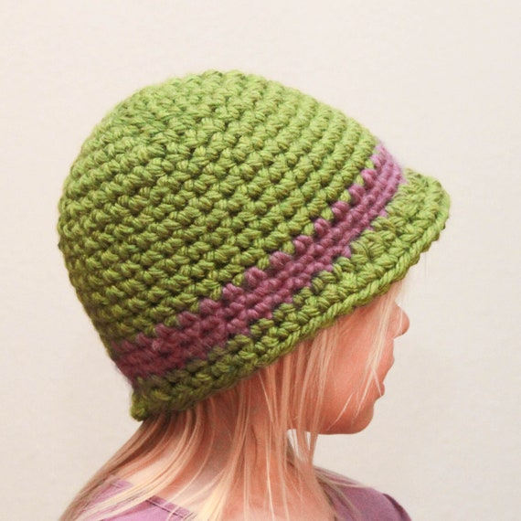 Crochet Hat Pattern Cloche : Crochet Hat Pattern Cloche Brim Hat Baby Adult by Mamachee