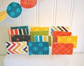 Cupcake toppers, Colorful fabric mini flags for birthdays, baby showers