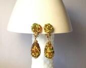 Vintage Earrings Beaded Earrings Drop Earrings Clip On Earrings Japan