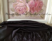 Midnight Ebony Black END to END Velcro Chandelier or Cord Cover