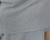 Silver Grey.....  Bamboo shawl... Free shipping - On sale