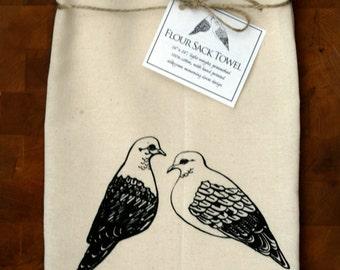 Mourning Doves Flour Sack Towel