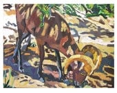 Ram In The Wild, Grand Canyon Print 8x10, Little Ram Wild Animal Painting by Gwen Meyerson