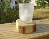 Candle, votive stand - Maple wood