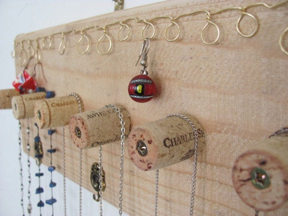 Cedar Hanging Jewelry Sculpture Art form Display, Hook Display, Key Rack. ONSALE.