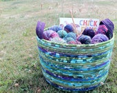 Colorful Cauldron - Neptune (Coiled Rope Basket)