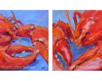 Lobsters - Lobster Art - Giclee Print - 19x13