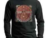 Mandala T-shirt, Tibetan Buddhist Thangka, Men's Black Long sleeve t-shirt