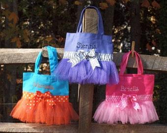 Dance Ballet CanvasTote Bag, Boutique PetiteTutu Custom Monogram