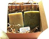 Ecofriendly Bath Set - Bath Gift Set - Soap, Shampoo Bar, Lip Balm,  2 Cedar Soap Decks - chemical fragrance free - SLS Free