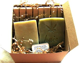 Ecofriendly Bath Set - Bath Gift Set - Soap, Shampoo Bar, Lip Balm,  2 Cedar Soap Decks - chemical fragrance free - SLS Free
