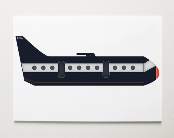 Big jet Plane, Airplane Art by ModernPOP