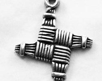 St Brigid's cross pendant   1 Bail Australian Pewter R391