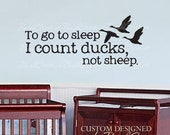 Wall Decals Nursery Hunting Ducks Baby Humor 085