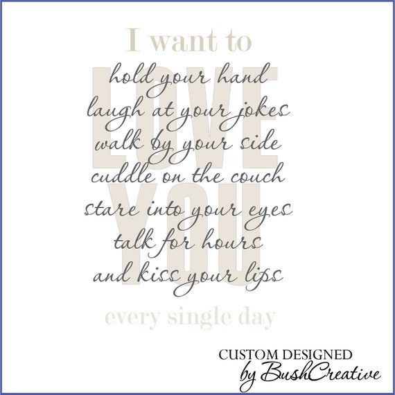 Wall Decal Master Bedroom Wall Art Vinyl Lettering I Love You
