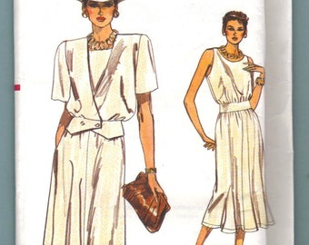 Vogue 9322 Jacket & Dress Sewing Pattern Misses Size 6 8 10 Very Easy Vogue UNCUT
