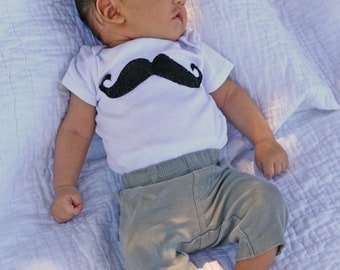 Dude Where's my 'Stache BABY BOYS MUSTACHE Bodysuit  0 to 18 Months