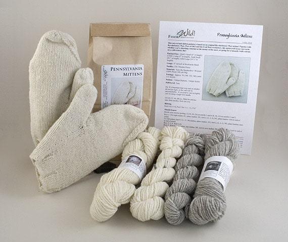 Pennsylvania Mittens Knitting Kit - Child Size