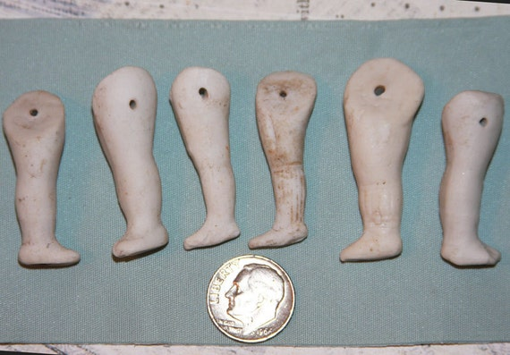 Antique Bisque Doll Legs from Germany