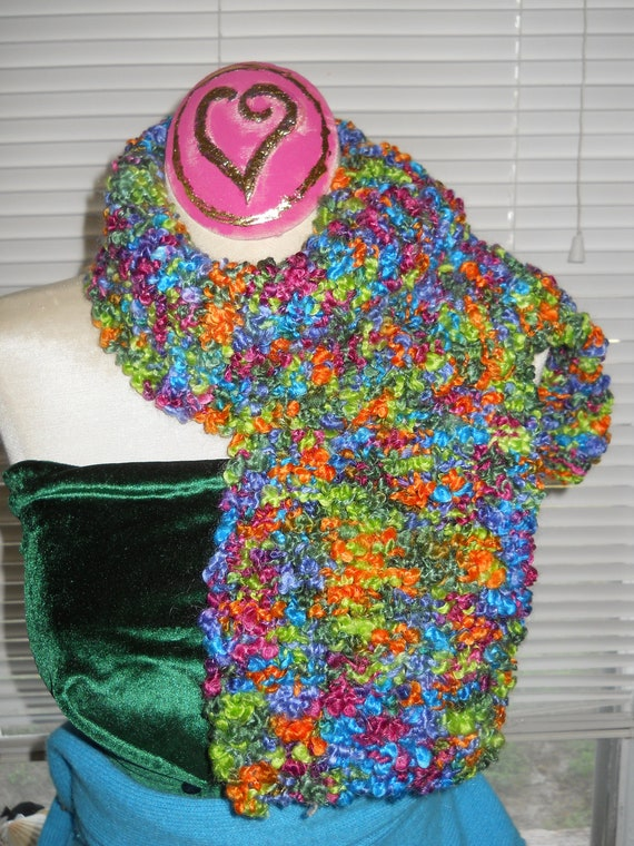 Reduced MULTICOLOR New Handknit SCARF for the Fashionable Girl     TRIX are not just for Kids