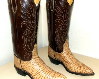 Vintage Acme brand cowboy boots size 6.5 A - two tone brown