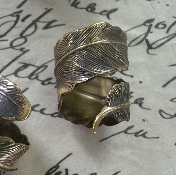 Feather Ring   - Free USA Shipping