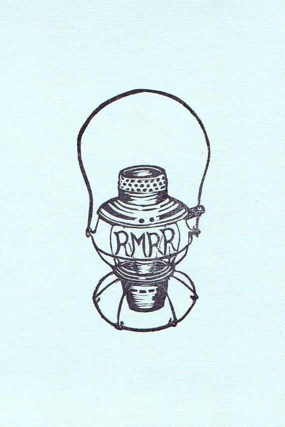 Custom Rubber Stamp Lantern for Jaime, hand carved rubber stamp special order