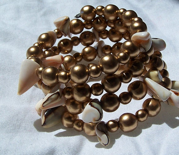 Hypatia math cuff bracelet pearl seashell jewelry