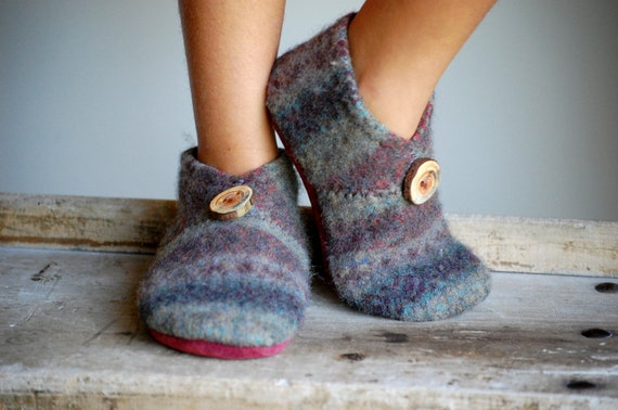 Kids Wool Shoes, Leather Soles, Eco Friendly, size 13, To Market