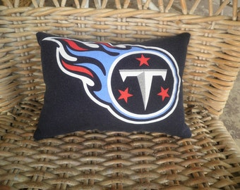 Titans Upcycled Pillow
