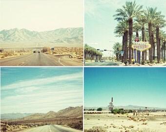 BUY 2 GET 1 FREE Vegas Road Trip Collection 4 - 5x7's, Road Trip, Desert, Palm Trees, Nevada, Mountains, Hot, Heat, Mini Prints