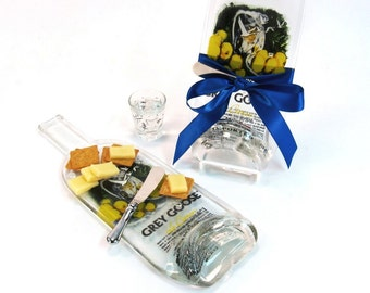 Melted Bottle Cheese Tray Grey Goose Citron
