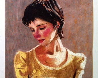 Naomi 2 / big print / Print of original drawing -  woman PORTRAIT ART PRINT