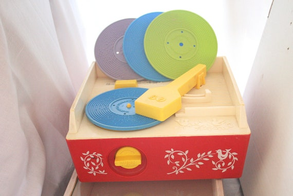 Vintage Fisher Price Record Player Children's Music Box Toy Classic