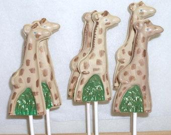 Chocolate Giraffe Lollipops I