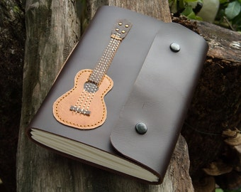 Reserved Ukulele guitar Leather Notebook