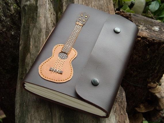 Ukulele guitar Leather Notebook