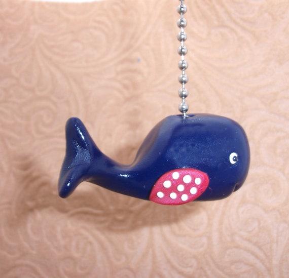 Blue Whale Fan Pull