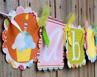 Whimzical Name banner- Springtime